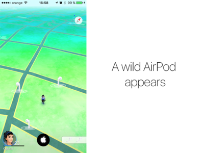 Probably the next game developed by Apple ui apple airpods pokemon game