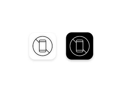 App icon white black phone line lineicon design nopho ios icon app