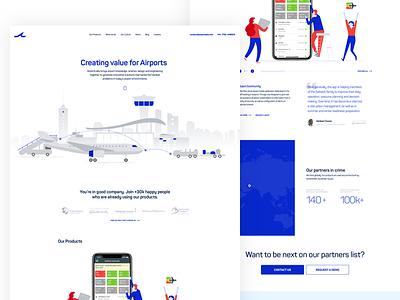 AirportLabs stats homepage plane airport illustration app userinterface ux-ui web webdesign design