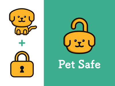 dog icon illustration lock pet icon doglogo logo dog