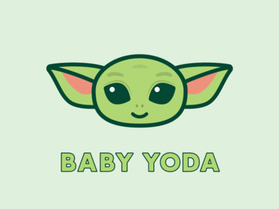 Baby Yoda baby yoda baby yoda starwars cartoon illustraion cute