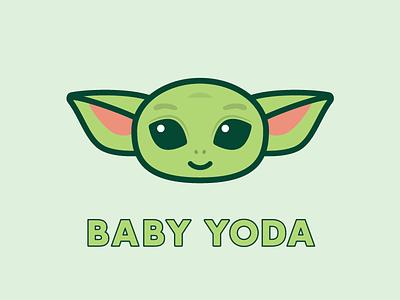 Baby Yoda baby yoda baby yoda starwars cartoon illustraion cute