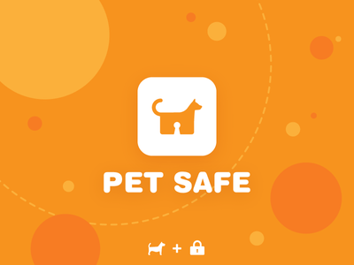 dog icon orange appicon pet logo lock illustration icon doglogo dog
