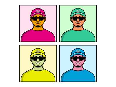 Illustration color palette avatar colorful color japanese character illustration