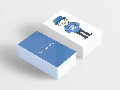 Business Card Design design japanese avatar qrcode illustration business card