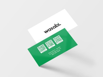 Bussiness Card logo wasabi qrcode busines card