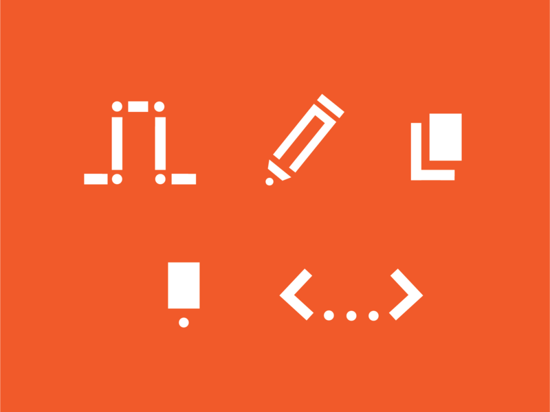 Personal Icons branding design personal brand icon design iconography icon set graphic design