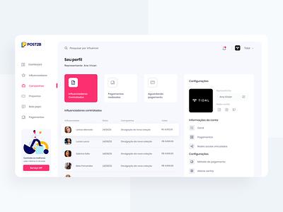 PROFILE | POST2B webdesign ux uiux ui dashboard ui dashboard app