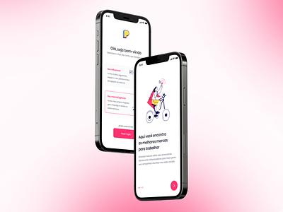 Onboarding app concept illustration mobile app design app ux uiux mobile app ui design onboarding ui