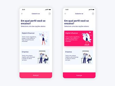 Fase de cadastro mobile app design app concept register design app app uxdesign uidesign mobile app mobile uiux ui