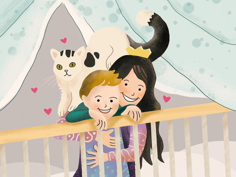 Birthday Girl quarantinelife quarantine concept character animal demet kural illustrator illustration cat son birthday