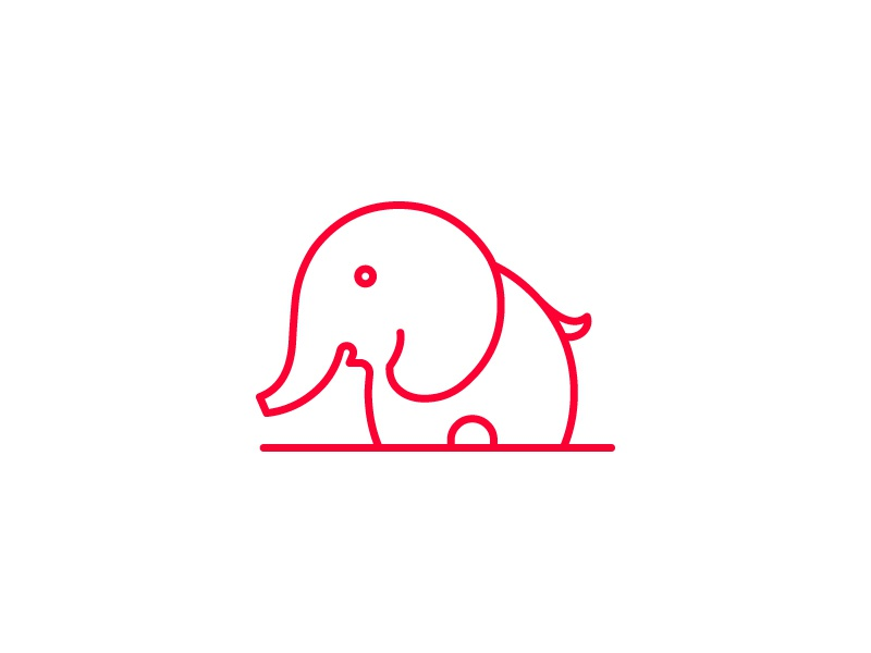 Elephant Icon vector minimal drawing illustration animal lineart stroke icon elephant