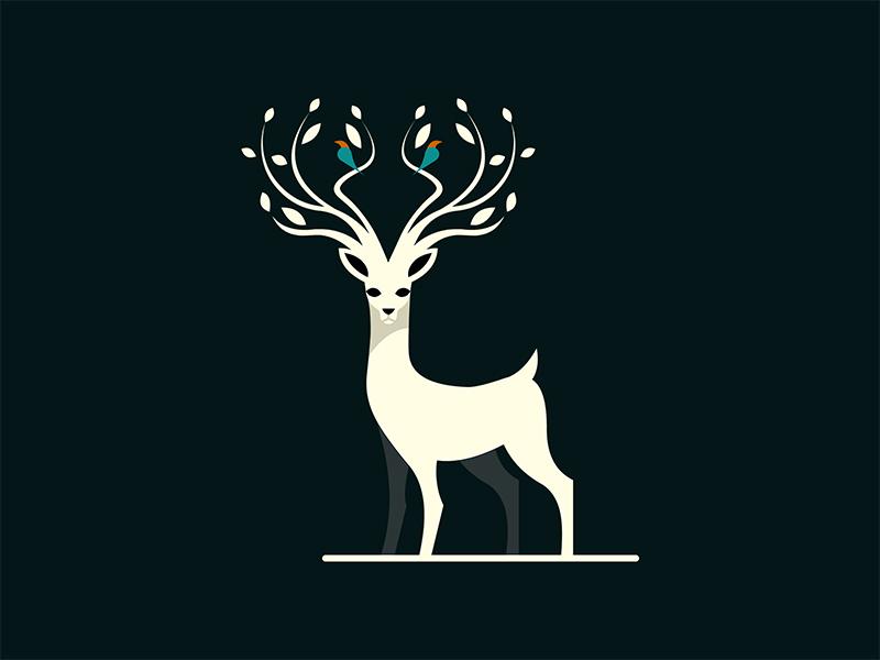 Deer / Concept 2 demet kural istanbul animal concept artwork bird illustrator antler illustration gazella deer