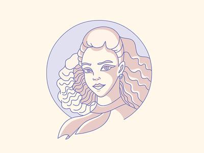 Girl Portrait character design illustrator woman girl lineart stroke artwork illustration