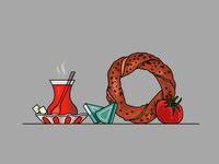 Turkish Tea & Bagel