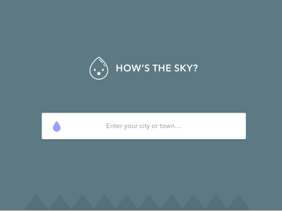 How's The Sky? nounproject landing page weather green