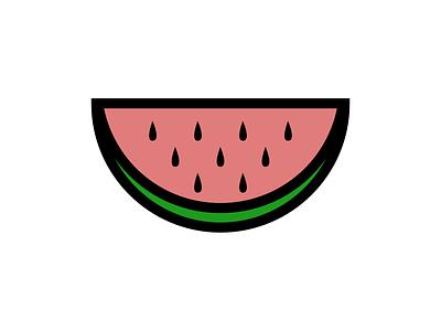 Watermelon vector green pink watermelon fruit