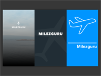 Splash concepts for travel app