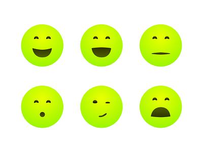 More Emojis face round simple yellow emoji