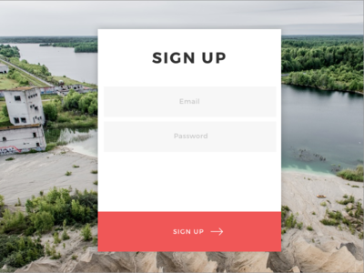 Daily UI 001 dailyui modal signup