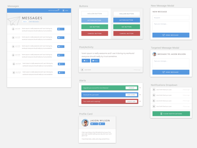 Form styles for web app forms buttons blue gray webapp