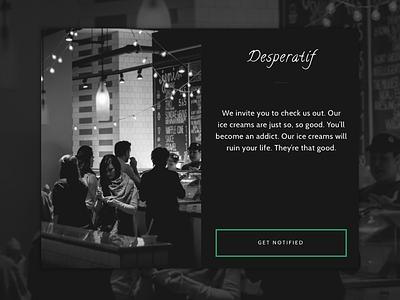 Daily UI Landing Page: Cafe Desperatíf dailyui landing page