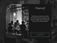 Daily UI Landing Page: Cafe Desperatíf