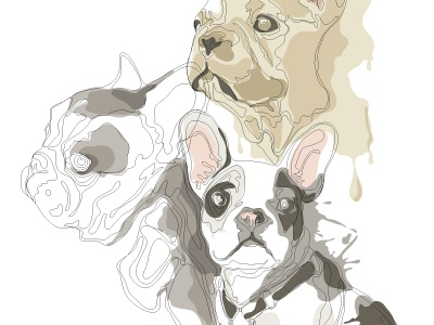 French bulldog print web