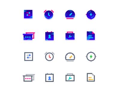 Icons of  intelligent hardware application
