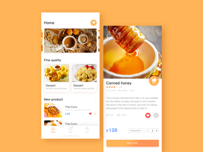 Food application interface
