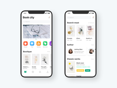 Read APP home page design read app 品牌 ux 设计 应用 ui