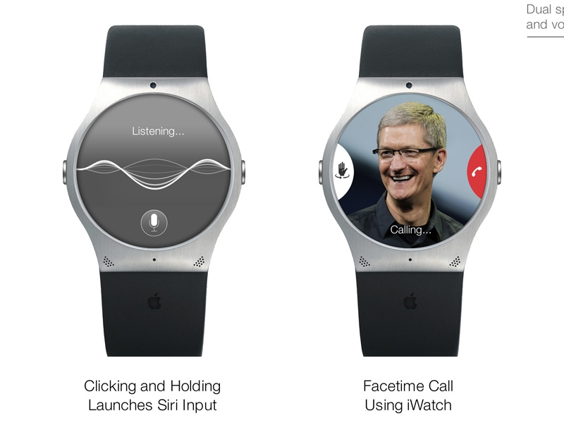 iWatch Mockup - Siri & Facetime Detail View iwatch