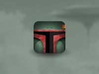 Star Wars Villain Helmet Icons - Boba Fett