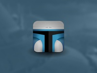 Star Wars Villain Helmet Icons - Jango Fett