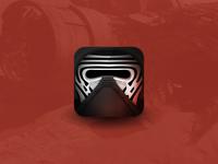 Star Wars Villain Helmet Icons - Kylo Ren