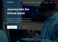 A landing page design for Virtual Labs