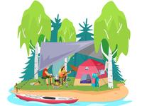 Camping romance