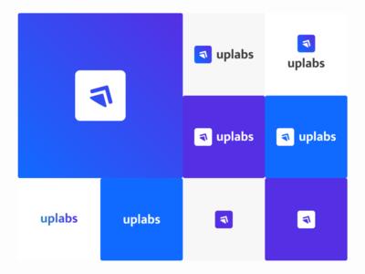 Uplabs Logo Redesign flat vector behance ux logo redesign typography uplabs challenge illustration dribbble branding design logo design logo uplabs