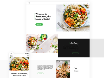 Restra - a restaurant website landing page aboutus webdesign websites web design typography branding ui design website website design restaurant website food website food ux  ui ui ux design design daily ui dailyui behance