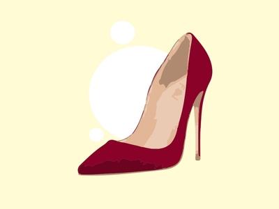 Heels model red branding design dailyui behance flat vector adobe illustrator cc adobe illustrator image trace illustration art illustration heels