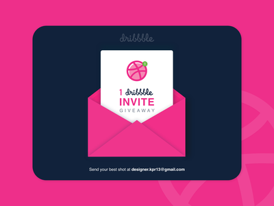 Dribbble Invite illustration ux design ui branding dailyui flat invite dribbble invitation dribbble invite dribbble behance design