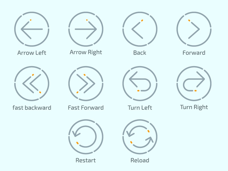 Arrows icon outline reload forwared back refresh arrow