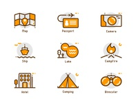 Travel And Camp Icons