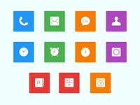 Phone Application icons set
