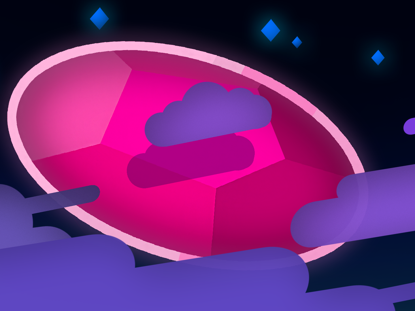 Steeveny Weeveny flat art gem space pink purple simple background illustration color steven universe