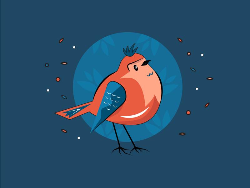 Fatty Bird bird animal branding draw characterdesign character vectorart artist color artwork art design 2d art vector illustrator illustration flat 2d