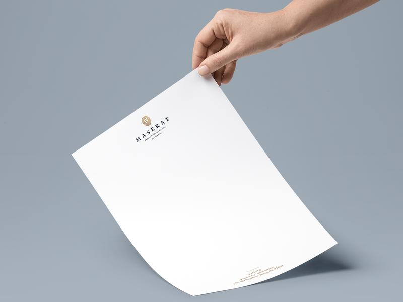 Maserat Group - Letterhead design illustration typography canada toronto brand branding agency company print logodesign branding logo letterhead