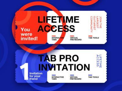 Invite for a friend community guitar friend ultimate guitar graphic design ticket gift invitation invite