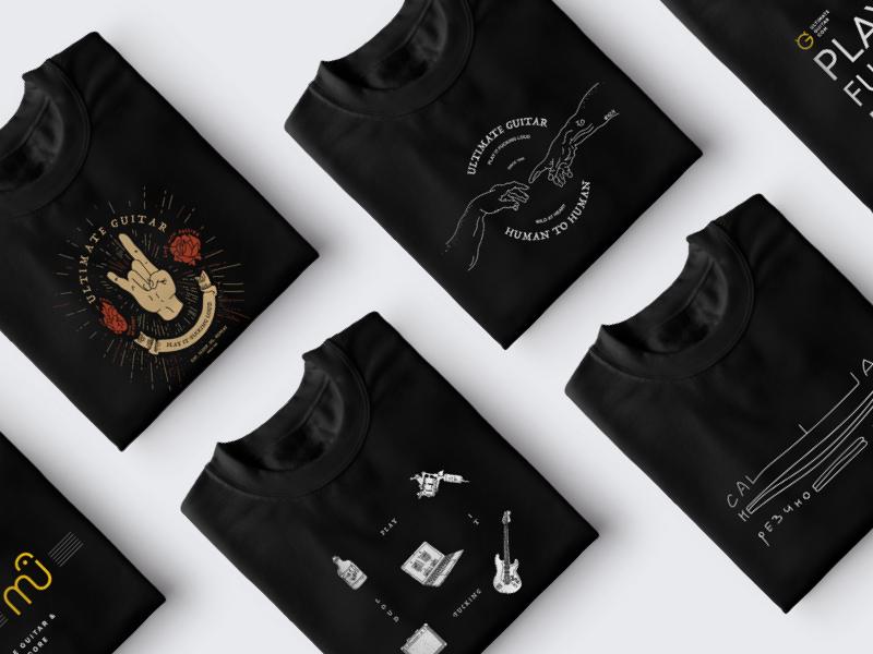 7d7dd7fce Rock-n-Roll' t-shirt prints by Ultimate Guitar | Dribbble | Dribbble