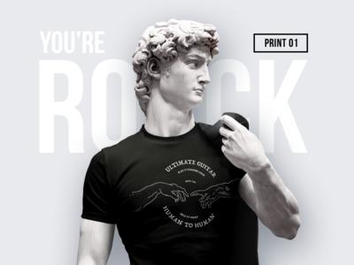 'Human to Human' t-shirt print style print david identity brand fashion design human rock illustration rock-n-roll t-shirt